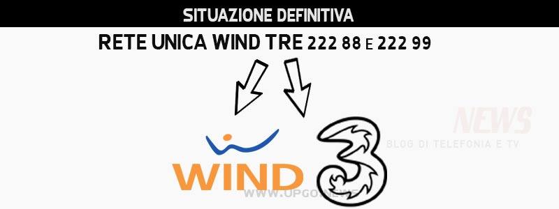 Situazione definitiva rete Wind e rete 3 confronto