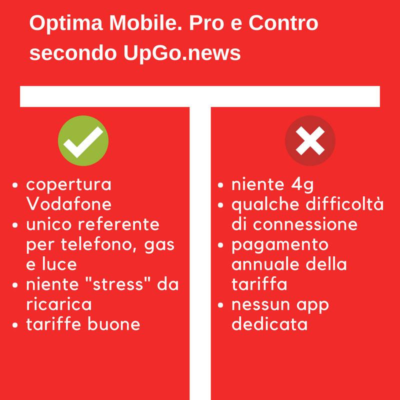 Pro e Contro di Optima Mobile