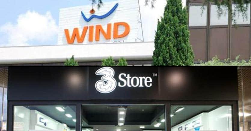 Negozi Wind e 3. Insegne