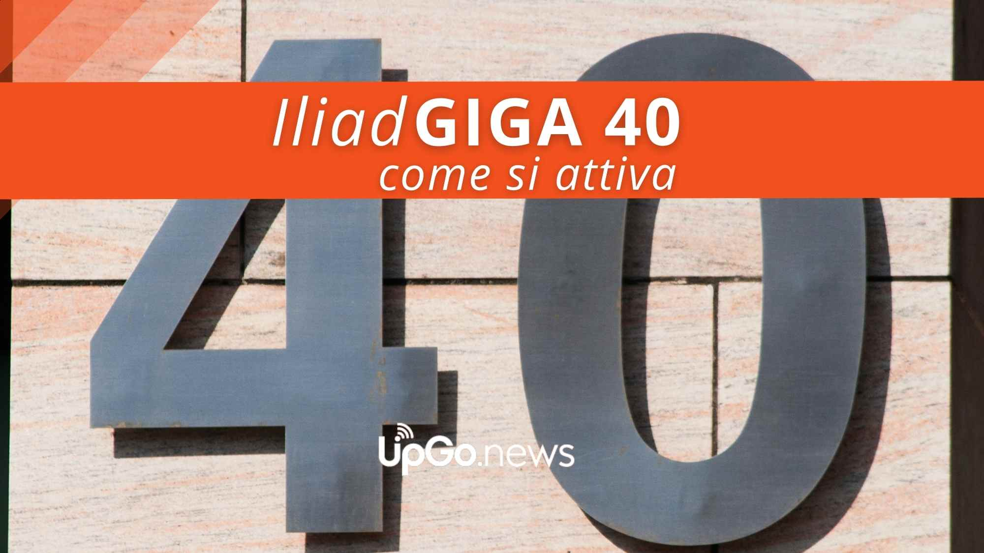 Iliad Giga 40 a 6,99 euro al mese