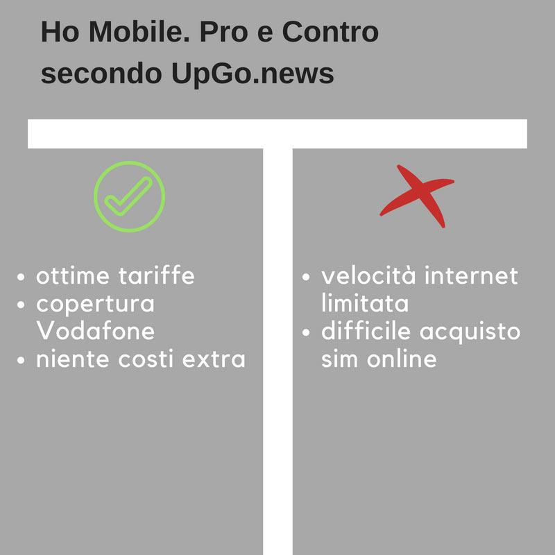 Ho Mobile pro e contro