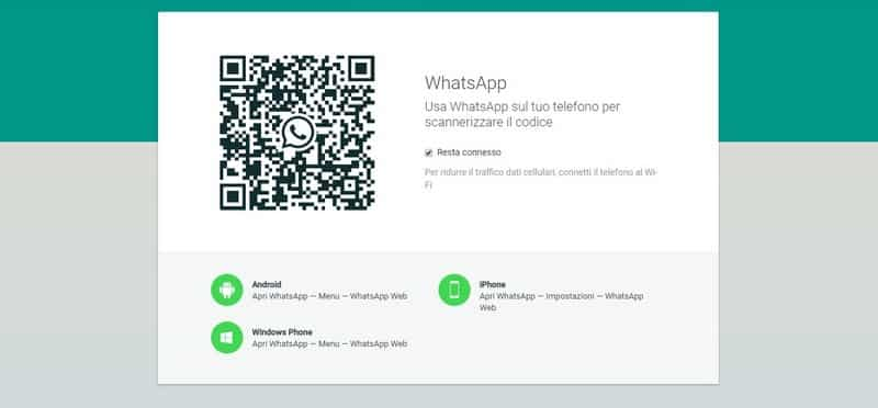 WhatsApp To Web. Schermata WhatsApp