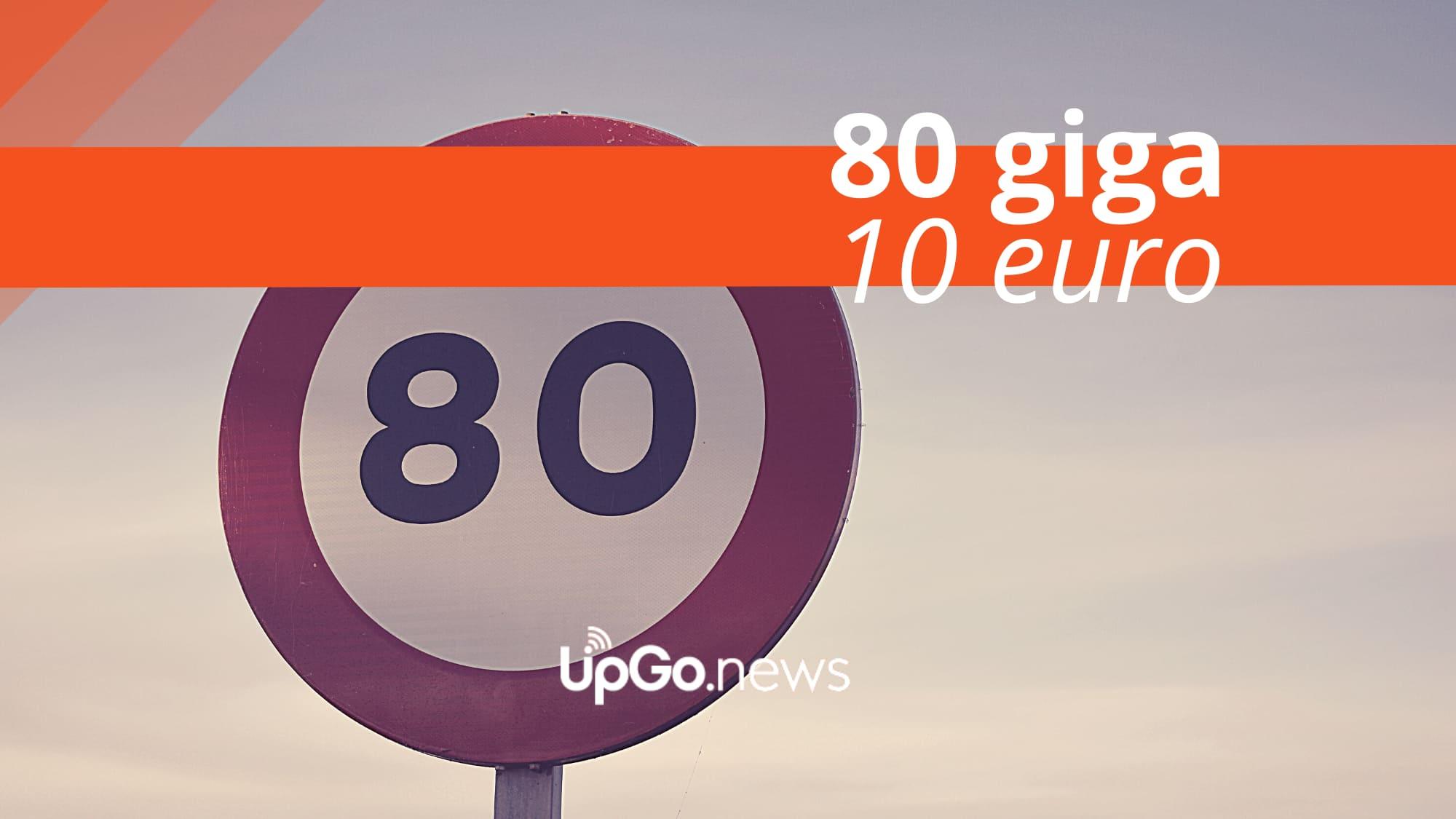 80 Giga 10 euro