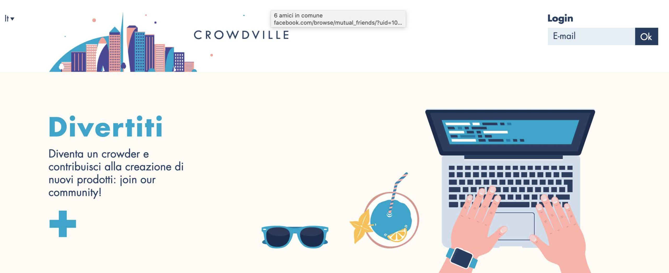 CrowdVille, immagine del sito