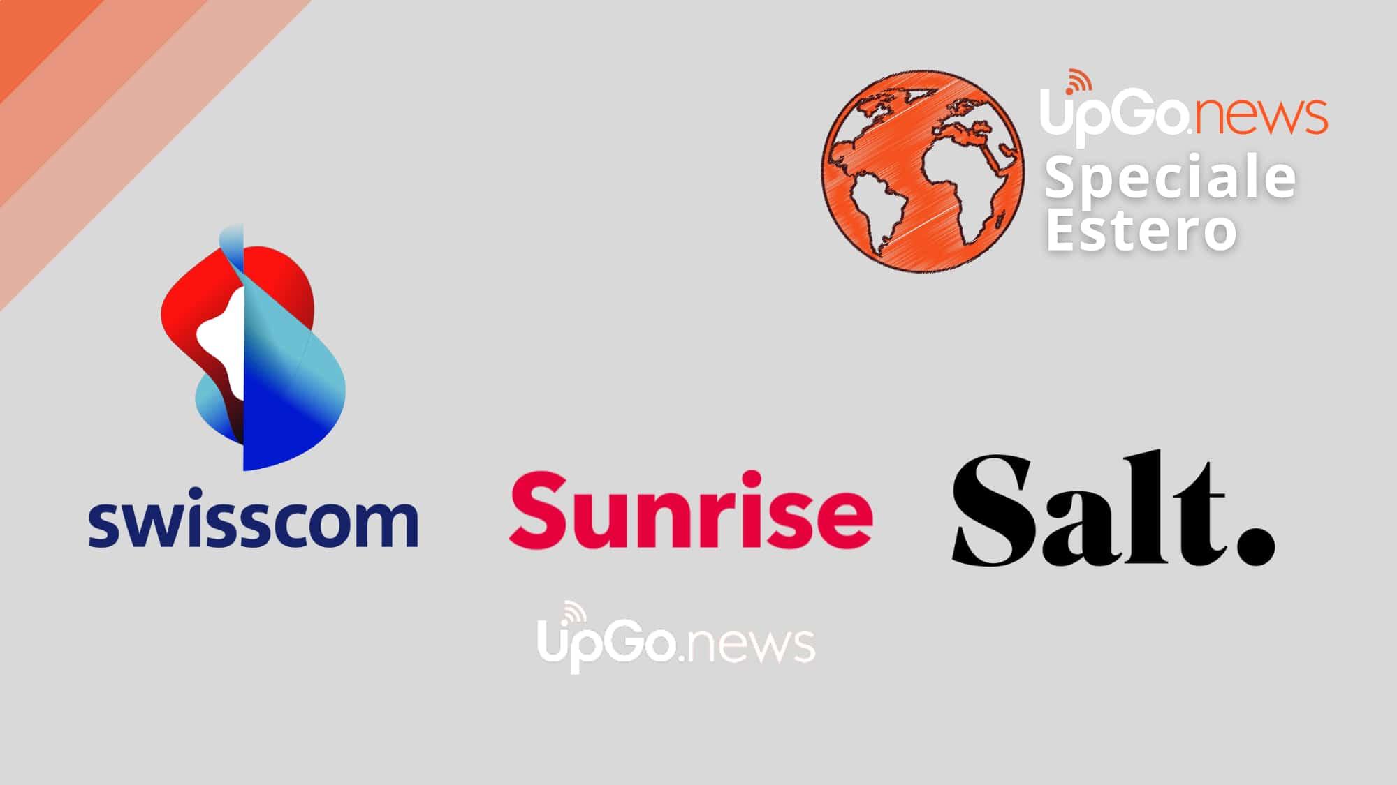 Loghi Swisscom Sunrise e Salt