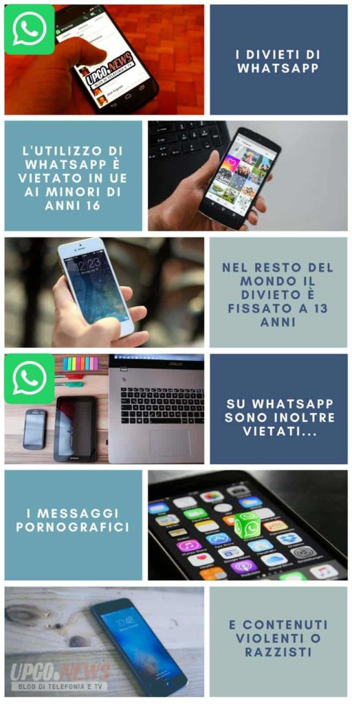 Infografica cose vietate su WhatsApp