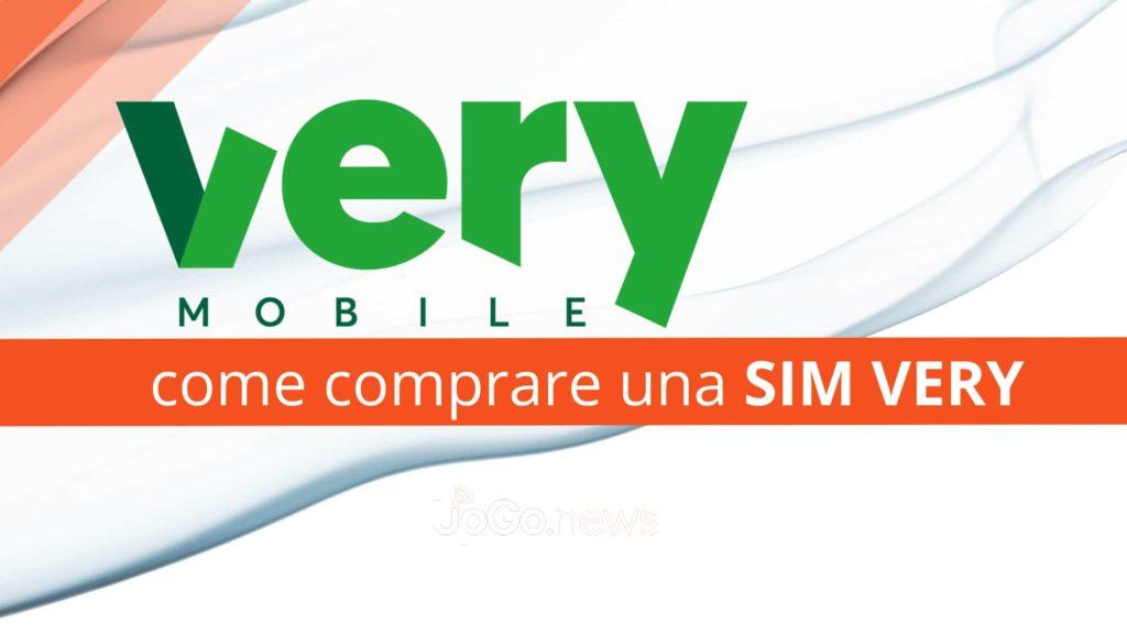comprare una sim di Very Mobile