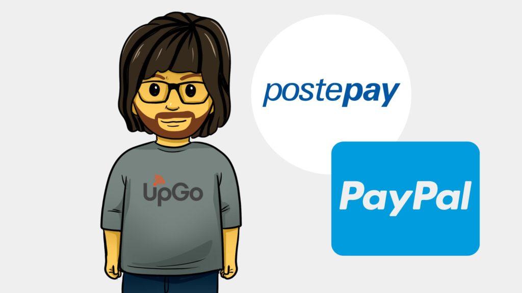 loghi di PostePay e di PayPal